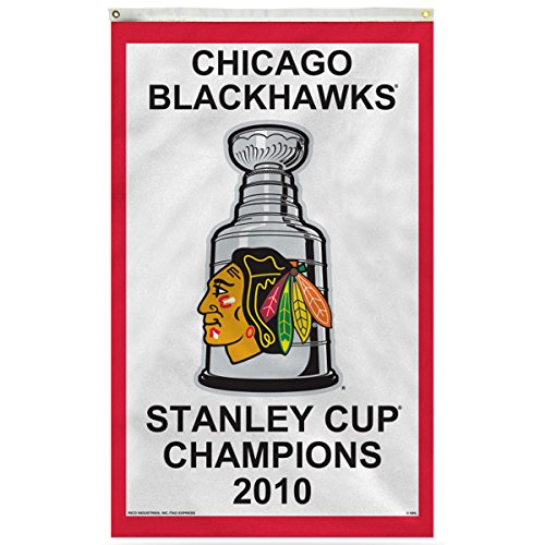 Chicago Blackhawks 2010 Stanley Cup Champions 3' x 5' Vertical Banner Flag