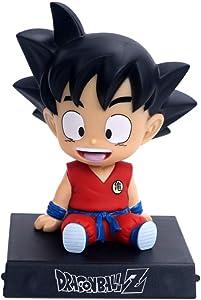 Goku Phone Bracket, Goku Shaking Head Car Decoration, Dragon Ball Z Home Decoration, Goku Decor for Home,Car,Party Cake Red