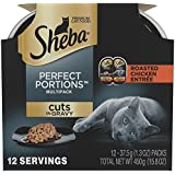 Sheba Perfect Portions Cuts In Gravy Roasted Chicken Entrée Grain Free Cat Food 2.6 Ounces (12 Twin Packs)