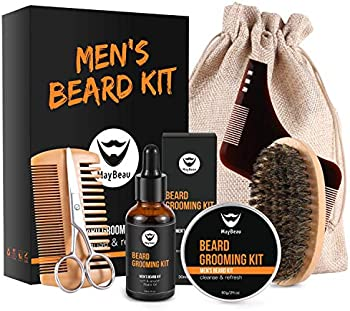 MayBeau 8 in 1 Beard Growth Grooming & Trimming Kit for Men