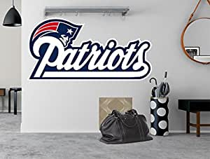 "NFL logo decal, Patriots NFL decal, New England large decal, Patriots decal, Patriots sticker, Patriots wall decal,New England Patriots logo decal pf58 (11"" x 22"")"