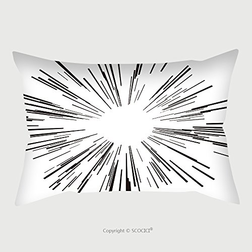 Custom Microfiber Pillowcase Protector Illustration Vector Starburst Black Lines From The Middle 431231044 Pillow Case Covers Decorative