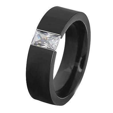 Onefeart Women Men Titanium Bangle Bracelet for Couple with Cubic Zirconia