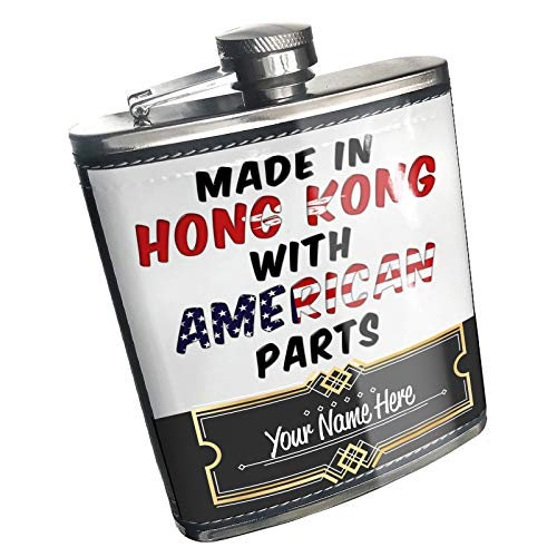 Neonblond Flask American Parts but Made in Hong Kong Custom Name Stainless Steel