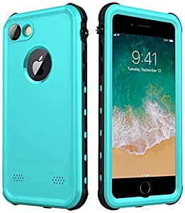 Waterproof Case for iPhone 7 /8, SmileCase Full Sealed Underwater IP68 Certified Military Grade Shockproof Cover