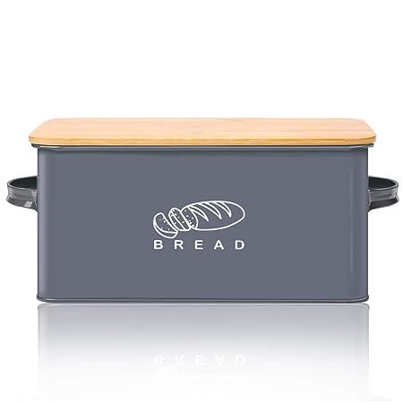 Panera para cocina, GA Homefavor Panera, soporte para pan con tapa ...