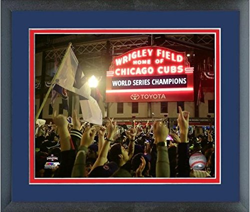 Wrigley Field Framed Pictures - Wrigley Field Chicago Cubs 2016 World Series Game 7 Photo (Size: 12.5