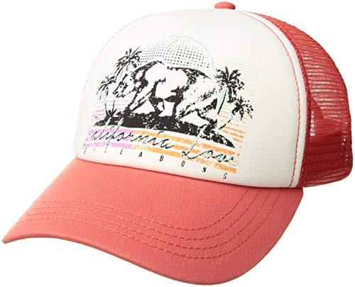 (Billabong Women's Retro Bear Trucker Hat Vintage Coral One Size)