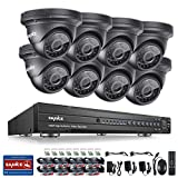 [New 1080P] SANNCE AHD 16CH 1080P Video DVR Recorder with 8HD 19201080 Outdoor Security Cameras, IP66 Weatherproof Metal Housing,No Hard Drive Included