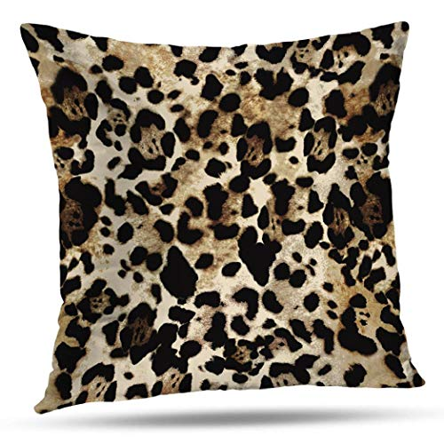 - Kutita Animal Print Decorative Pillow Covers, Leopard Animal Scarf Nature Square Trend Throw Pillow Decor Bedroom Livingroom Sofa 18X18 inch