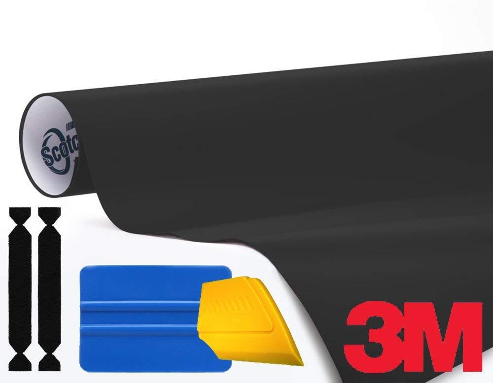 3M 1080 Matte Black Air-Release Vinyl Wrap Roll 1//2ft x 5ft