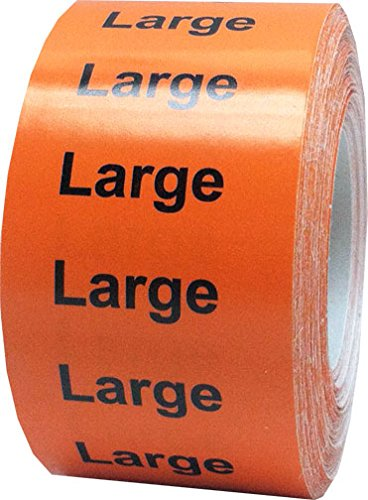 "1.25 x 5"" Apparel Large Wrap Around Size Strip Labels for Folded Retail Clothing 