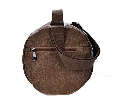 Genda 2Archer Estrella Roja Militar Messenger Bag Crossbody del bolso de hombro MJH-1177 (café) café