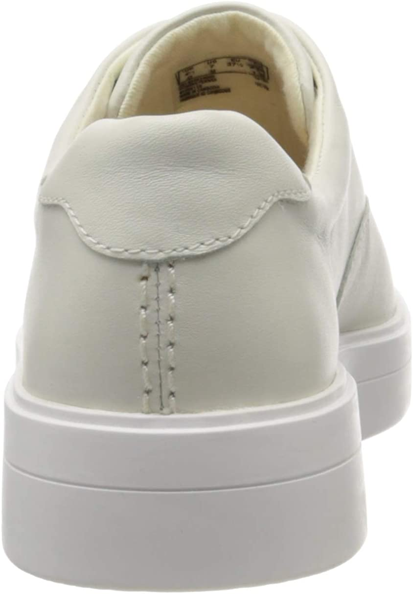 5.5 UK White Leather White Leather White Slip On Trainers Clarks Womens Hero Step