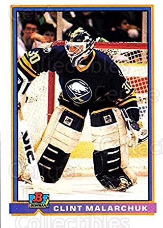 Amazon Com Ci Clint Malarchuk Hockey Card 1991 92 Bowman Base