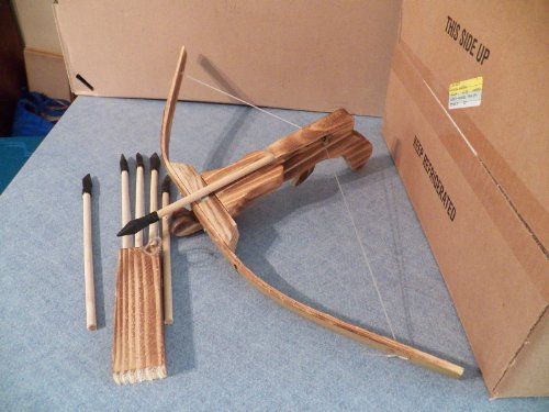 Wooden Crossbow with Quiver and Pack of 3 Arrows