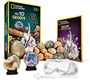 National Geographic Break Open 10 Premium Geodes – Includes Goggles, Detailed Learning Guide & 2 Display S