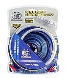 BULLZ AUDIO 4 Gauge Car Amplifier Amp Installation Power Wiring Kit | BGE4BB