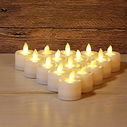LED Tea Light Candles,Battery Operated Warm White Flameless Window Pillar Candle Bluk With Dancing Flickering Bulb For Christmas/Wedding/Birthday Party-Pack Of 6 by Burning Sister (Image #2)