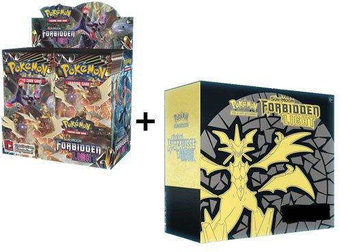 Pokemon Sun & Moon Forbidden Light Booster Box + Elite Trainer