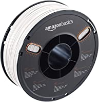 AmazonBasics ABS 3D Printer Filament, 1.75mm, White, 1 kg Spool by AmazonBasics
