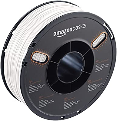 AmazonBasics – Filamento de ABS para impresora 3D, 1,75 mm, Blanco ...