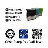 Firma de uno de Los Padres with Parallel Lines, pre-Inked En Español & Spanish Teacher Stamp (#662705-C), Style C, Purple Ink, Stamp Size (38x10mm)