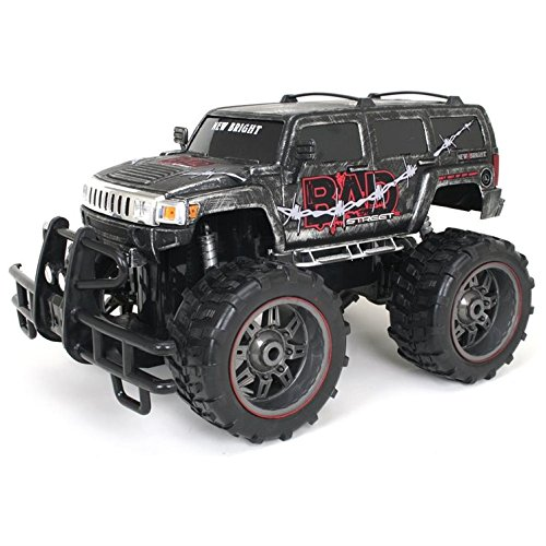 New Bright 1:10 R/C F/F Bad Street Hummer H3 , Includes 9.6V Power Pack, Batteries & Charger - RB Kids Children