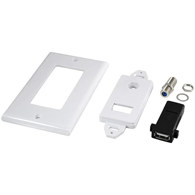 Amazon.com: USB 2.0 Television Satellite Wall Plate RCA Coax Cable Coaxial Jack for CCTV TV: Electronics