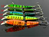 5pcs mix colours 10.5cm 12.5g jointed minow