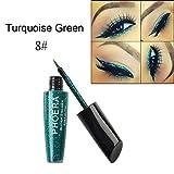 AMA(TM) 10 Colors Makeup Metallic Shining Eyeshadow Waterproof Glitter Liquid Eyeliner Eyes Comestics (H)
