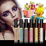 Liquid Eyeshadow - Waterproof Glitter Shimmer Liquid Eyeliner Eyeshadow with 6 Colors