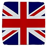 13 Inch 6-Sided Cube Ottoman British English Flag HD
