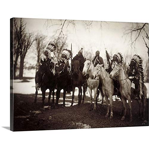 GREATBIGCANVAS Gallery-Wrapped Canvas Entitled Native American Chiefs by Edward Curtis 40