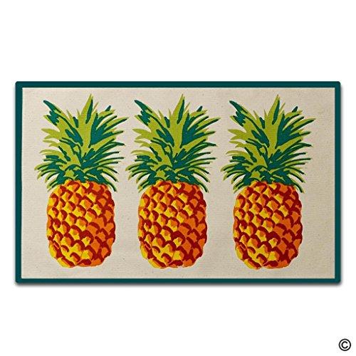 - Artswow Personalized Doormat Funny Floor Mat Pineapple Door Mat with Non Slip Rubber Backing Decorative Indoor Outdoor Door Mat 18 by 30 Inch