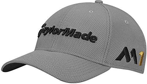 TaylorMade Golf 2017 tour new era 39thirty white hat grey ()