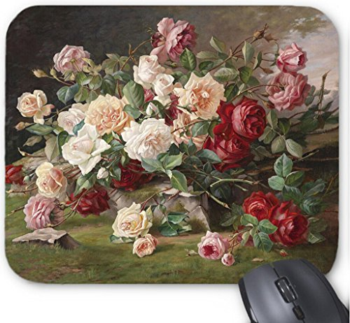 Mousepad Rose Oil Painting Computer Mouse Mat