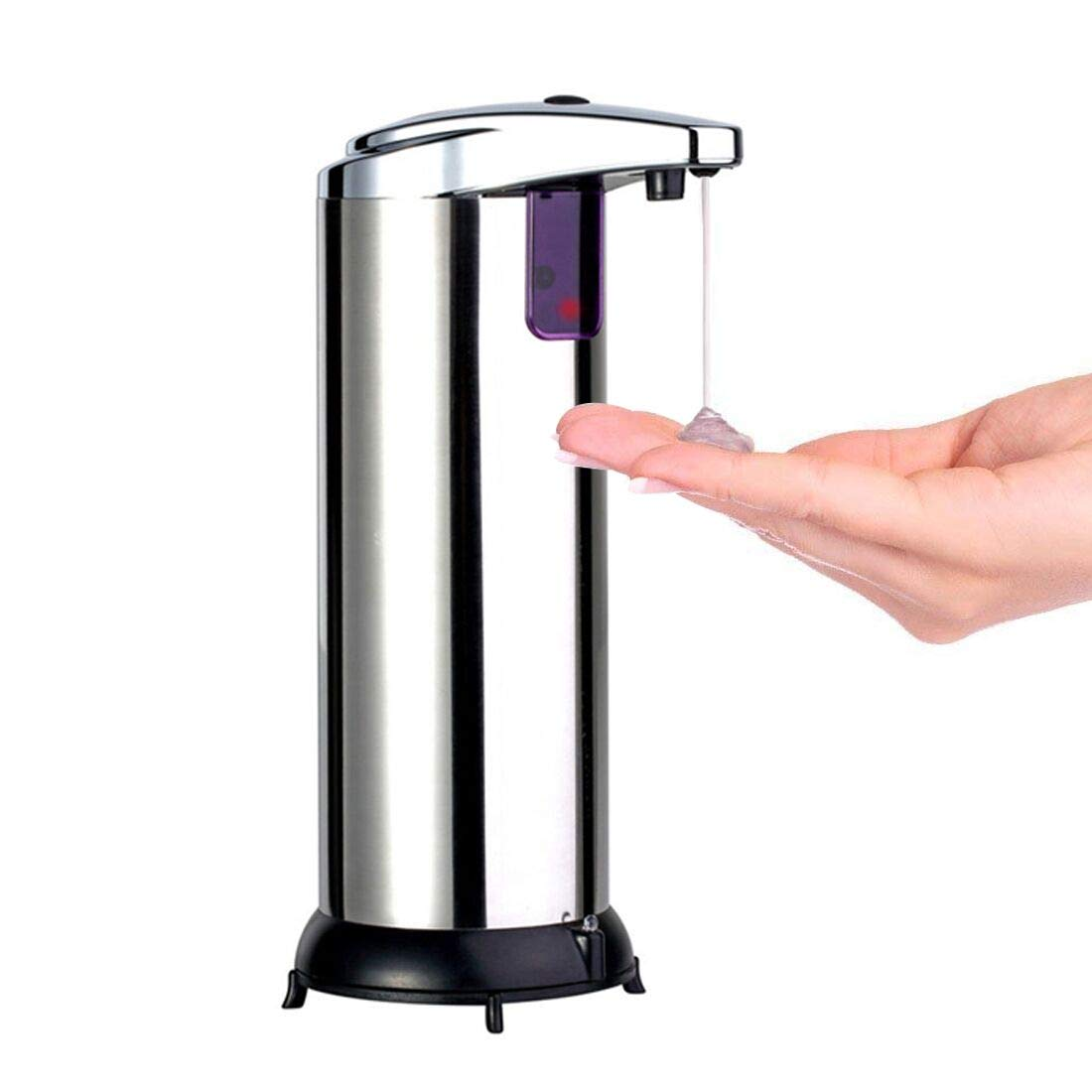 A-szcxtop 280ML Stainless Steel Automatic Soap Dispenser with Waterproof Base