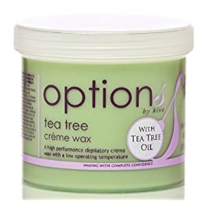 Hive Depilatory Tea Tree Creme Wax For Face Body Leg Bikini Wax Hair Removal 425g CODE: OPT5717