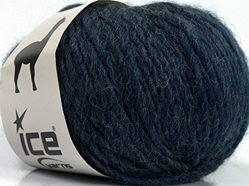 (Peru Alpaca Bulky - Navy Heather Merino Wool Alpaca Acrylic Blend Yarn 50gr)
