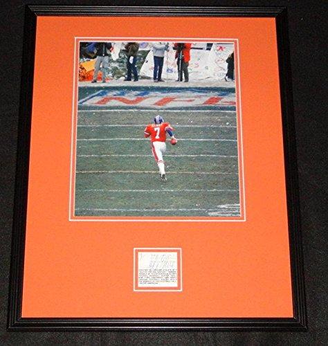 (Signed John Elway Photograph - Framed 16x20 Poster Display Stanford H - JSA Certified - Autographed NFL Photos)