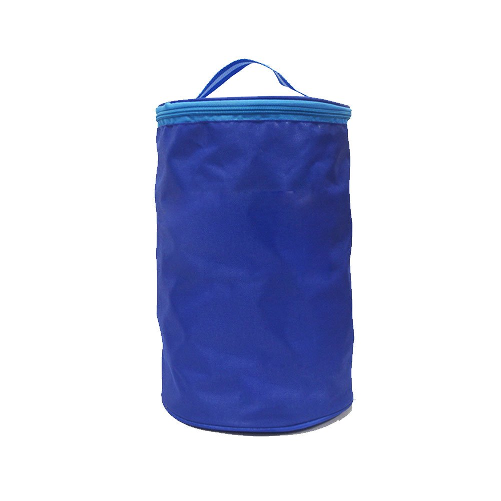 Lesmin Hanging Pingpong Balls Storage Bag Portable Pouch Table Tennis Ball Holder Blue Bag Contain 150 to 200 Balls