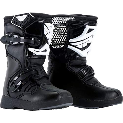 (Fly Racing Unisex Youth Maverik Mini MX Boots (Black, Size 12))