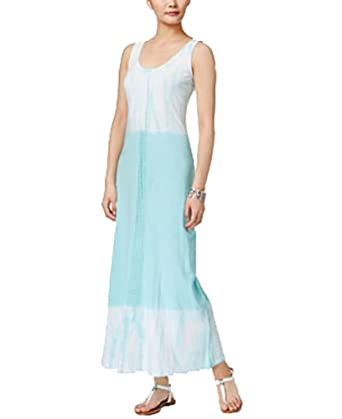 Style Co Petite Cotton Colorblocked Tie Dyed Maxi Dress Folk
