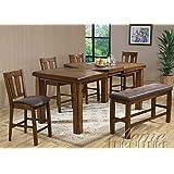 ef7f083f4e Amazon.com - EFD Two Person Dining Set Small Wood Kitchen 3 pc Set ...