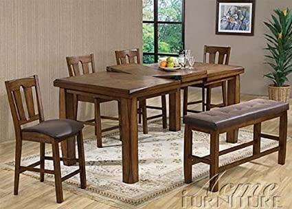 Morrison 6-Pc Counter Height Extendable Table Set by Acme & Amazon.com - Morrison 6-Pc Counter Height Extendable Table Set by ...