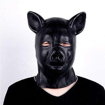 coût modéré les ventes chaudes tout neuf TINGSHOP Masque De Fétiche De Bondage Couvre-tête De Cochon ...