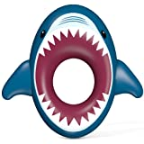Jasonwell Inflatable Shark Pool Float Shark Floaties Water Fun Summer Beach Swimming Pool Tube Inflatables Ride on Pool Party