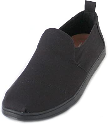 TALLA 45 EU. TOMS Tiny Mary Jane Black, Zapatillas sin Cordones Unisex Niños
