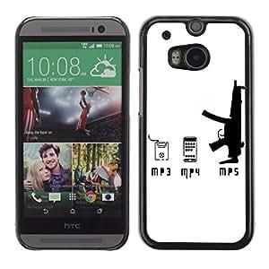 CaseCaptain Carcasa Funda Case - HTC One M8 / i And Gun /